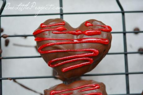 chocolate strawberry Valentines Day hearts
