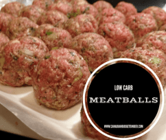 low carb meatballs fb