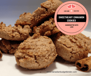 Sweetheart Cinnamon Cookies (Low Carb) (Sugar Free)