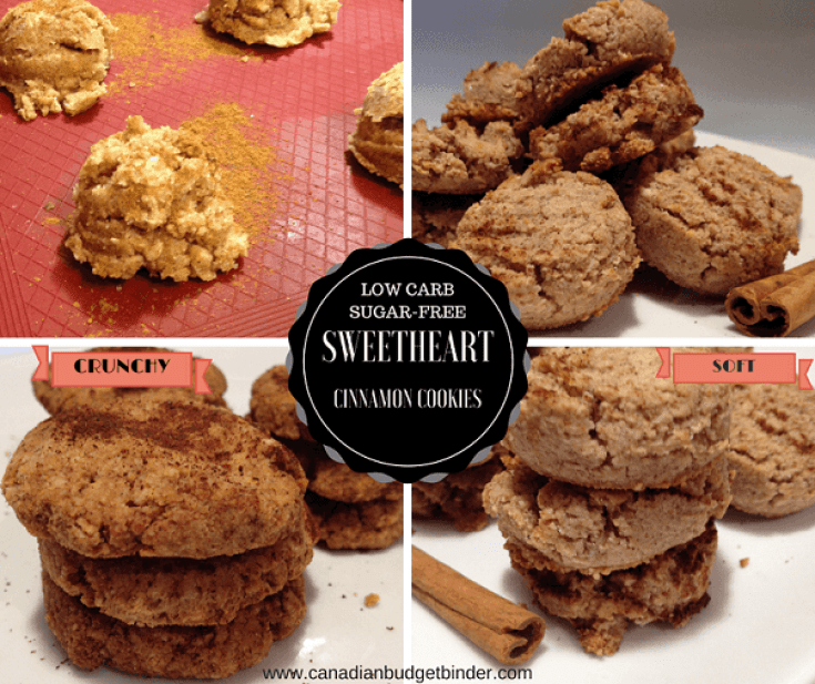 keto sweetheart cinnamon cookies photo collage