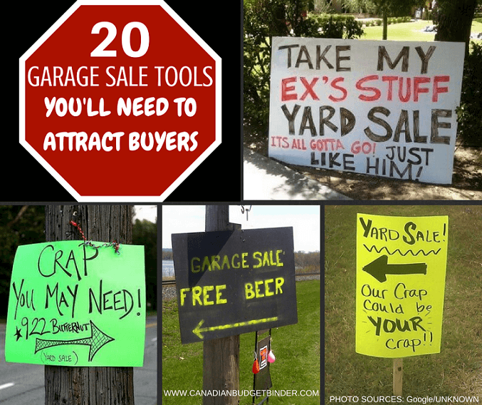 20 garage sale tools you'll need to attract buyers - canadian budget ...