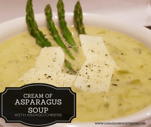 Cream of Asparagus Soup with Asiago Cheese (Low-Carb) (Gluten-Free)