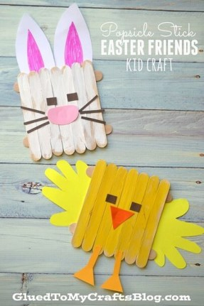 Popsicle Stick Easter Crafts Kids