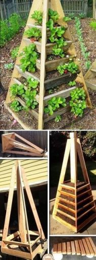 how to make a pyramid slot garden