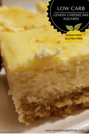 low carb lemon cheesecake squares PINTREST 1
