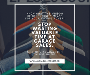 How To Stop Wasting Valuable Time At Garage Sales : The Saturday Weekend Review #219