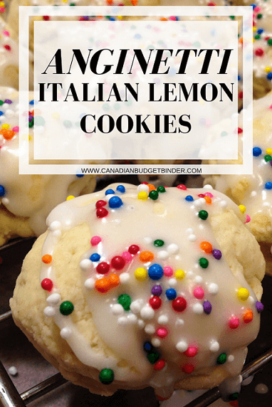 anginetti italian lemon cookies Pinterest