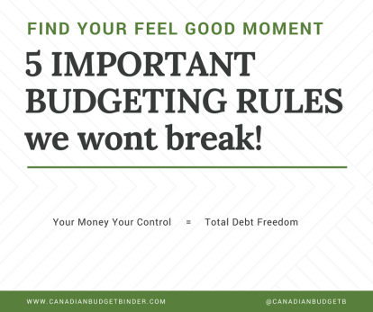 5 important budgeting rules we won't break