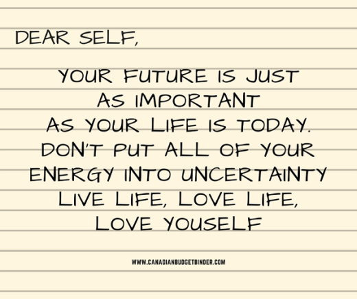 your today is just as important as your future