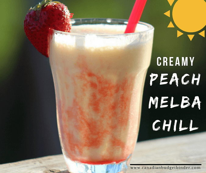 CREAMY peach melba chill