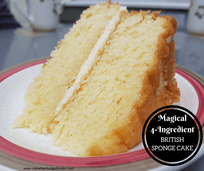 Magical 4 Ingredient British Sponge Cake