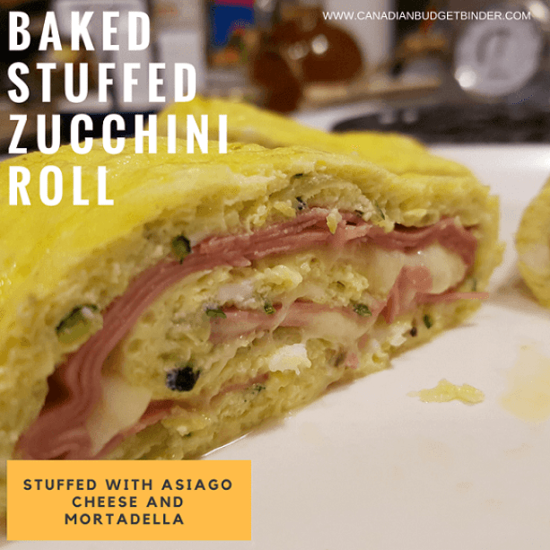 BAKED STUFFED ZUCCHINI ROLL LOW CARB GLUTEN FREE FB