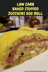 keto baked stuffed zucchini egg roll