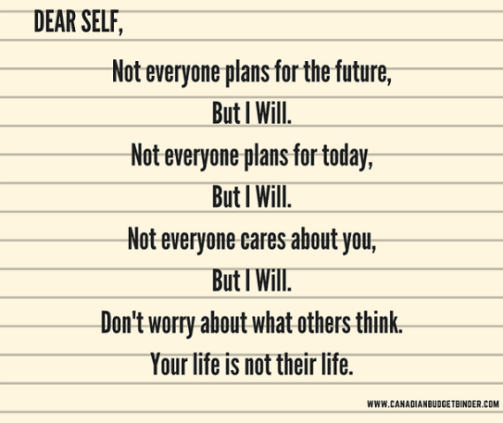 plan for the future believe in yourself