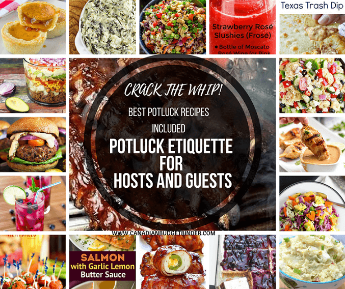 Crack the Whip Potluck Etiquette For Hosts and Guests : The Grocery Game Challenge #4 July 24-30