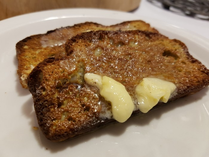 low carb toast with butter