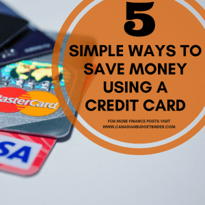 5 simple ways to save money using a credit card