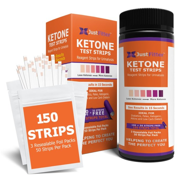 just fitter ketone urine test strips