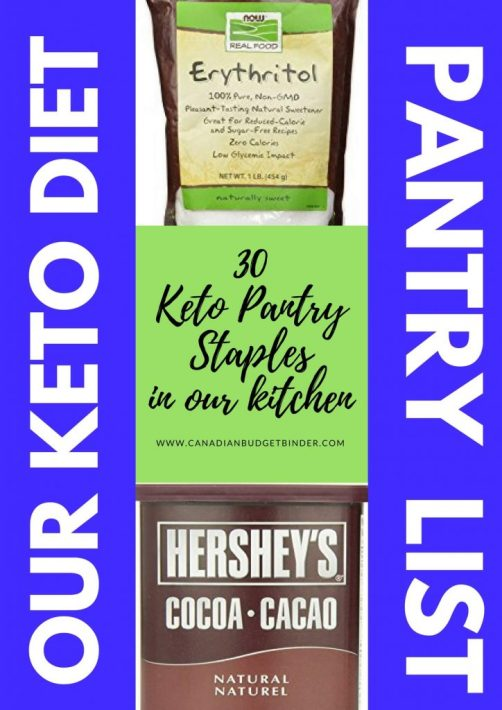 our keto diet pantry list main