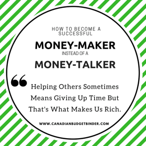 How To Be A Successful Money-Maker Instead Of A Money-Talker : The Saturday Weekend Review #236