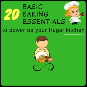 20 Basic Baking Essentials To Power Up Your Frugal Kitchen : The Grocery Game Challenge 2017 #1 Oct 30-Nov 5
