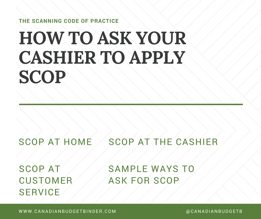 HOW TO ASK YOUR CASHIER TO APPLY SCOP