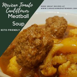 Mexican Tomato Cauliflower Meatball Soup FB 2