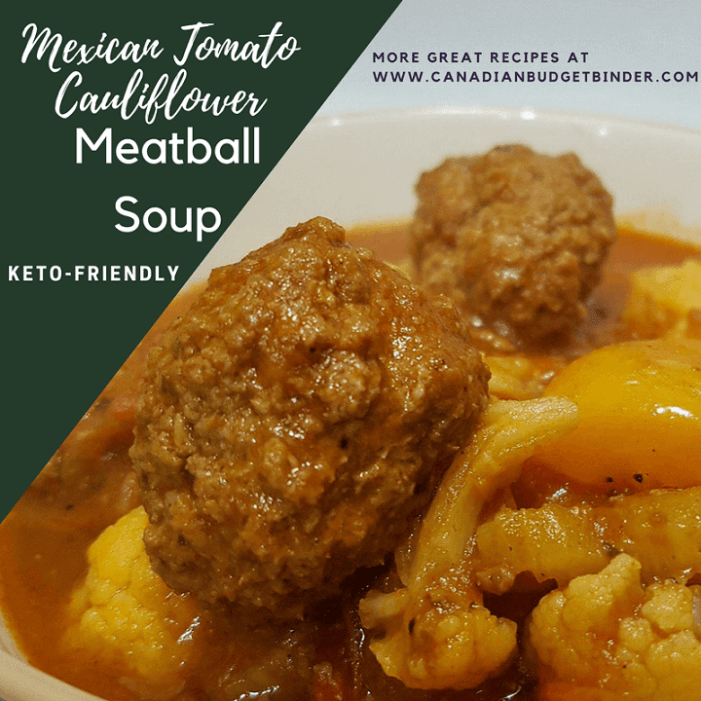 Keto Mexican Tomato Cauliflower Meatball Soup FB 2