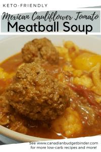 Keto Meatball Cauliflower Soup