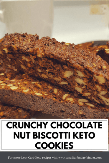 crunchy chocolate nut biscotti keto cookies pinterest