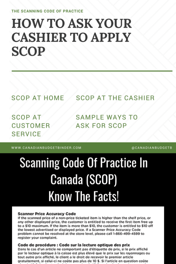 Scanning Code Of Practice SCOP Scanner Price Accuracy Code