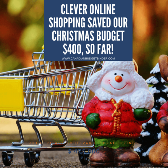 online shopping saved our christmas budget $400, so far!-1