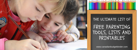 THE ULTIMATE LIST OF PARENTING TOOLS LISTS AND PRINTABLES