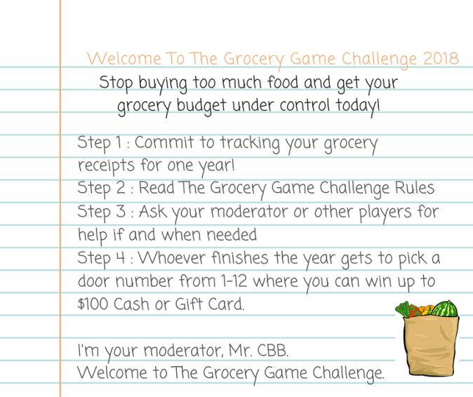 grocery game challenge 2018