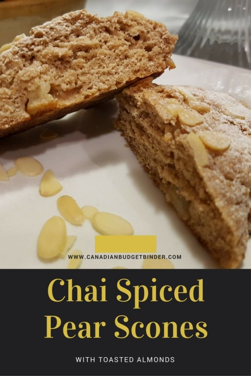 chai spiced pear scones PINT