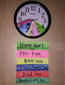 using colour coding of a clock for chores parentingusing colour coding of a clock for chores parenting