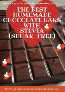 sugar-free low carb chocolate bars