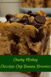 Chunky Monkey Chocolate Chip Banana Brownies