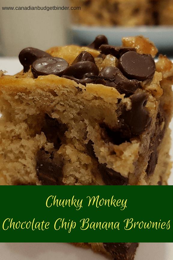 Chunky Monkey Chocolate Chip Banana Brownies Canadian