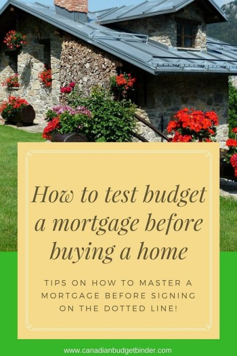 How to test budget a mortgage before buying a home-1