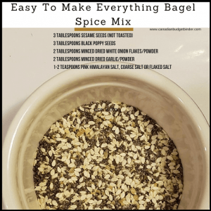 how to make everything bagel spice mix