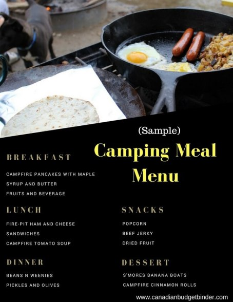 Camping Meal Menu- sample-1