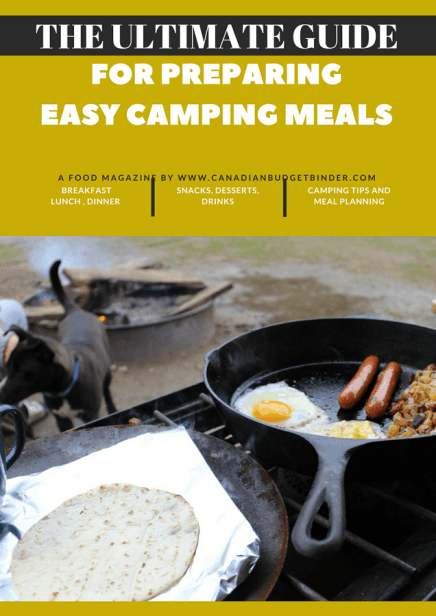 For preparing easy Camping meals camping food