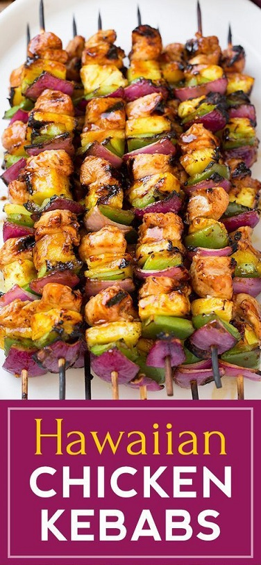 hawaain chicken kabobs