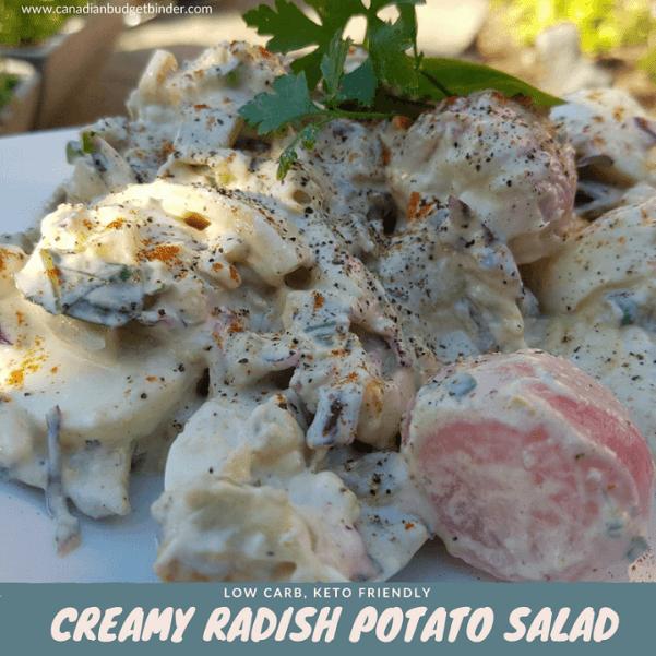 creamy radish potato salad country-style keto