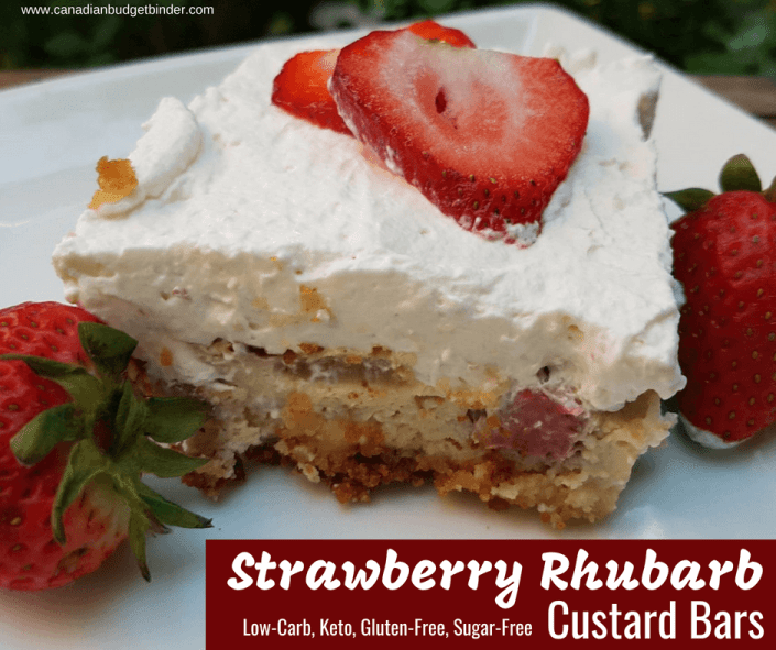 Strawberry Rhubarb Custard Bars Keto Gluten-free Sugar-free 5 fb
