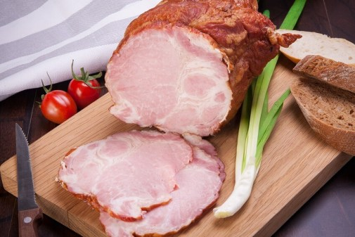 baked ham sliced