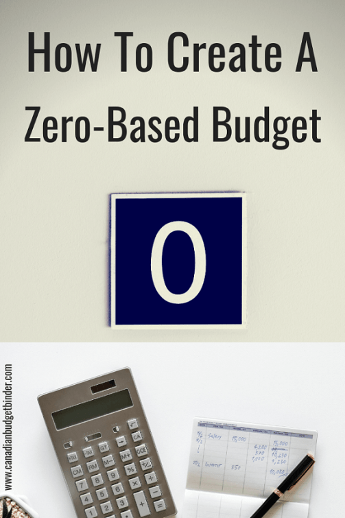 how to create a zero based budget v1.