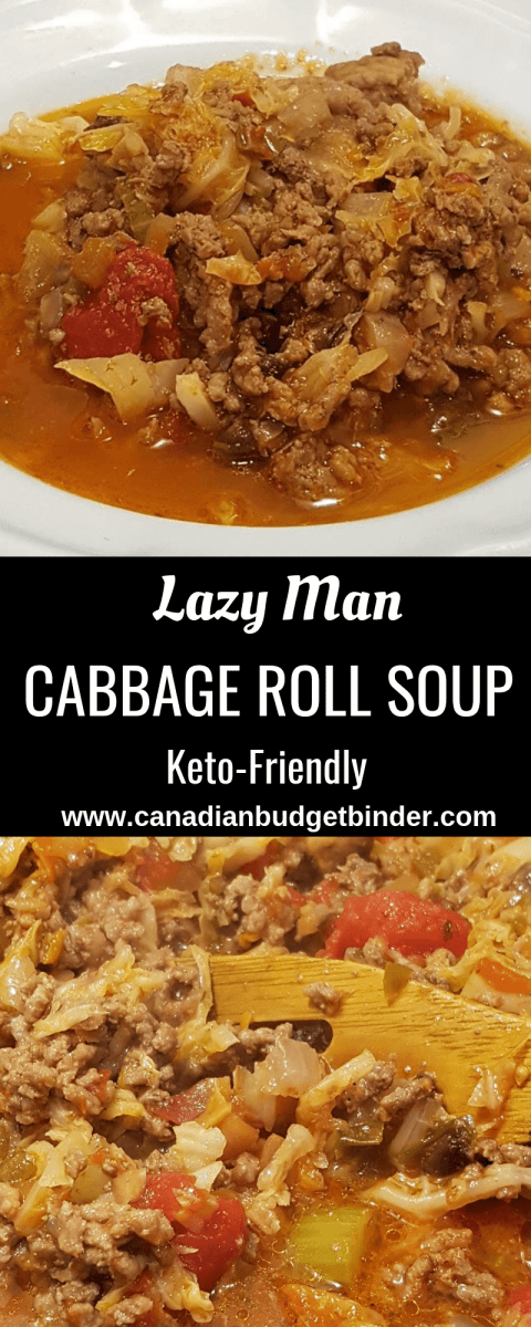 Lazy Man Ground Beef Cabbage Roll Soup