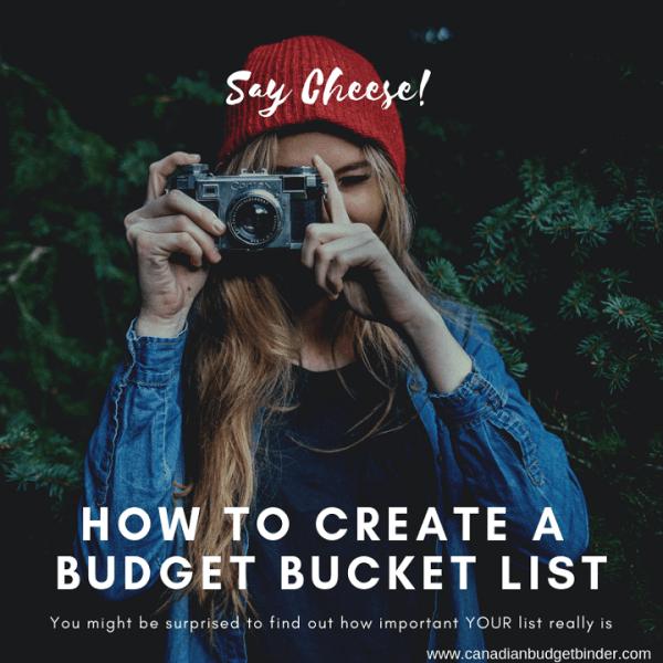 how to create a budget bucket list